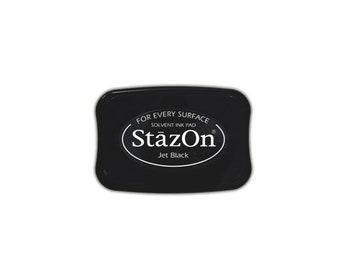 Staz On Ink Pad Extra Large in 12 Colors For Rubber Stamper | (I935)