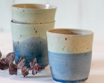 Speckled Tumblers // Hand-thrown Ceramic Cup // Handless Cup // Wine Tumbler // For Her // For Him // Pottery // New Home