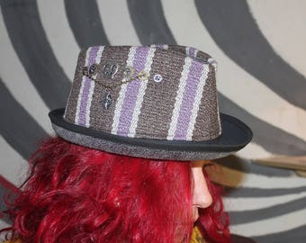 unique and original trilby Hat steampunk pirate