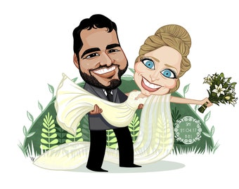 Personalized caricature for marriage/custom wedding Caricature
