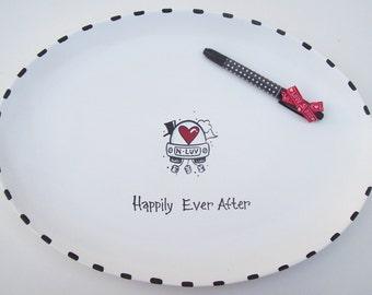 Ceramic XL OVAL Signature Platter- Guest Book Alternative