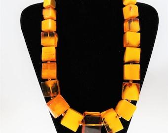211g. Huge Necklace Natural Baltic Amber