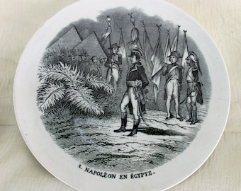 Small Collector Cabinet Wall Plate Napoleon Bonaparte En Egypte Maastricht HTF