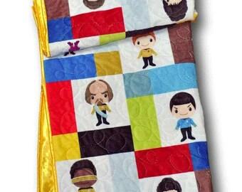 Star Trek Baby Blanket, Star Trek Nursery, Star Trek Baby Quilt,  Star Trek Quilt, Star Trek Crib Bedding,  Star Trek Baby Bedding, Quilt