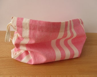 Candy Stripe Drawstring Project Bag