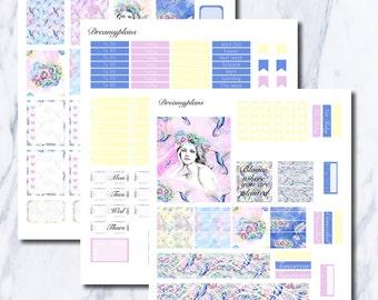 Flower Child Printable Vertical Erin Condren Planner Stickers Kikki K Personal