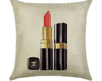 Lipstick Popping CC Inspired Throw Pillow