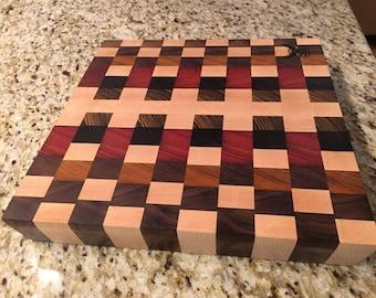 Custom made hardwood cutting board