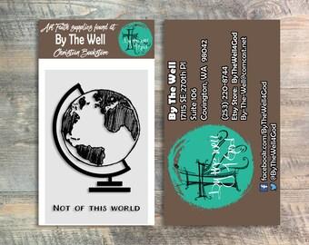 Bible Journaling Stamp:  Not Of This World Stamp Set - a ByTheWell4God Original 2 Piece Stamp Set