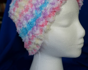 SUPER soft baby yarn loom knit cap