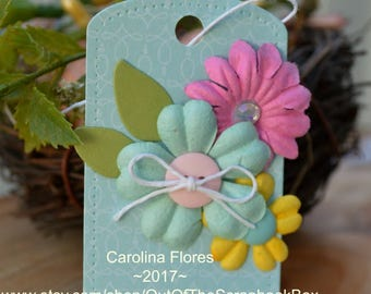 Gift Tags, Gift For Her, Handmade labels, Party Supplies, Flower Tags, Spring Tags, Easter Tags