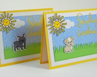 Frenchie Card, French Bulldog Card, Pug Card, Bulldog Card, Sending Sunshine
