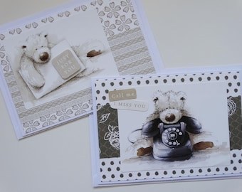 Cute Bear Thinking of You Set of 3 A6 Cards