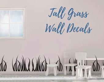 Tall Grass Wall Decal - Grass Wall Decal - Vinyl Wall Decal - Grass - Grass Decals - Home Decor -Grass Wall Art