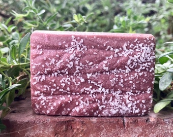 ORANGE POMEGRANATE Sea Salt Soap, Handmade Soap, Cold Process Soap, Detoxing Soap