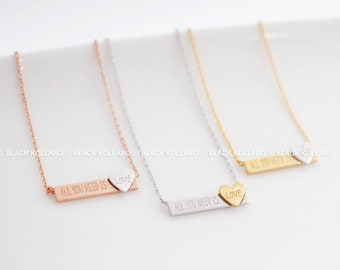 Bridesmaid Gift Necklace, Birthstone Necklace, Mother's Day Gift, Bar Necklace, Custom Jewelry