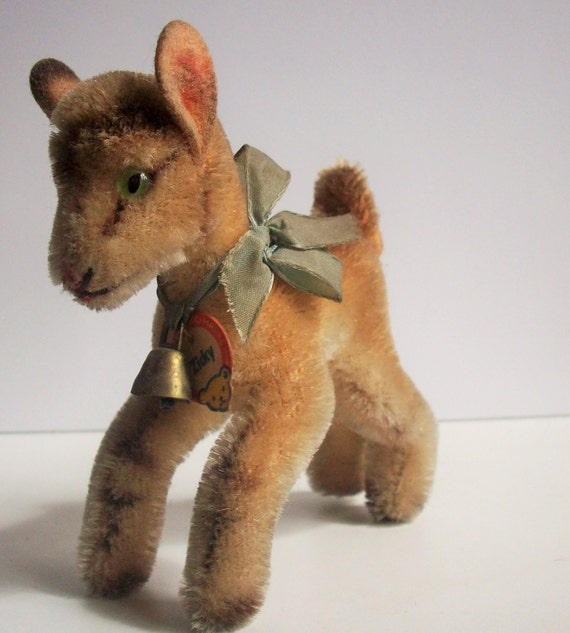 Vintage Steiff small Mohair Goat, Zicky