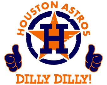 Digi-tizers Houston Astros Dilly Dilly Thumbs Up SVG, Jpg, PDF, vinyl, decals, HTV, Cricut, Cameo, Laser engraving, Vector