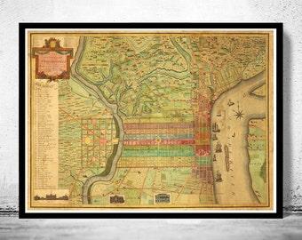 Old Map of Philadelphia 1802