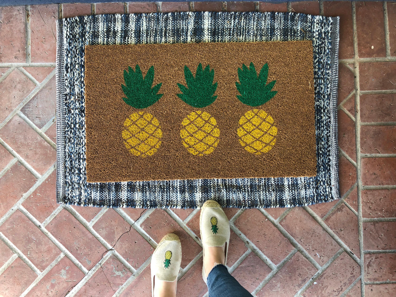 Ananas-Fußmatte / Sommer Fußmatte personalisierte Fußmatte /