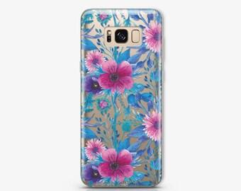 Floral Samsung Galaxy S8 Plus Case Samsung Galaxy S7 Case Samsung Galaxy S6 Case Samsung S9 Plus Case Samsung S8 Case Gift Case 1 AC1187