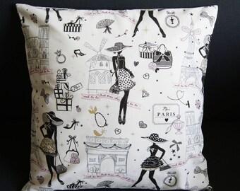 Cushion cover 40 X 40 cm small Paris
