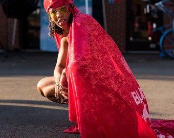 DuragFest full-body Cape Velvet Durag