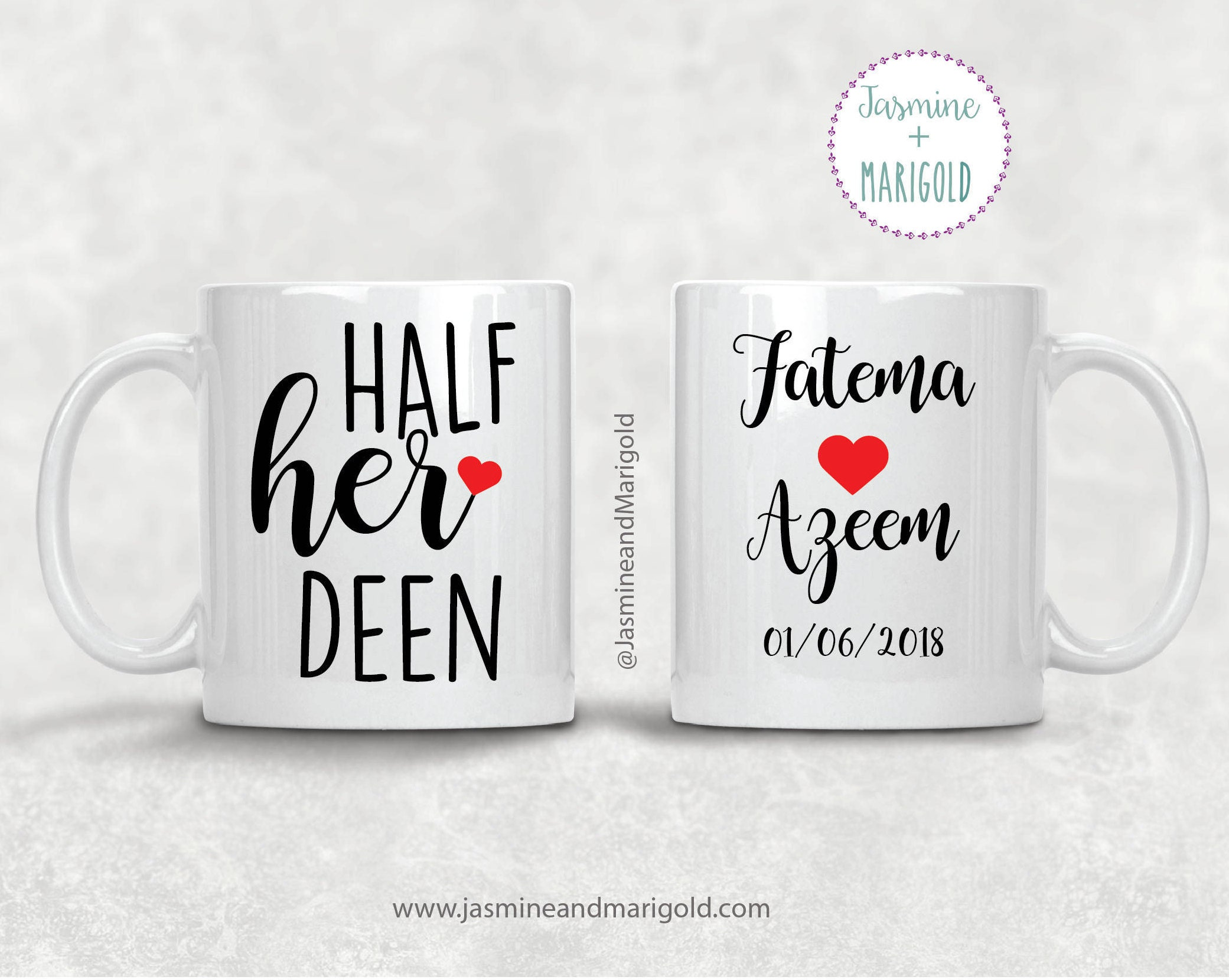 half his deen half her deen personalized gift for newlyweds