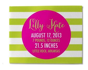 Birth Announcement Sign, Birth Stats, Nursery Decor, Nursery Wall Art, Custom Nursery Sign, Baby Room, Baby Shower Gift, Newborn