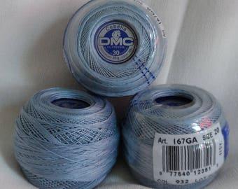 DMC Cebelia Cotton thread, Peweter Blue(932) and Garnet(816)