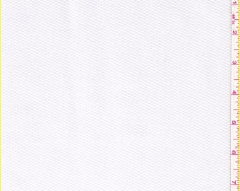 """60"""" White Cotton Pique Fabric-15 Yards Wholesale By The Bolt (PK0051)"""