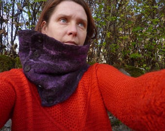 felted neck warmer cowl collar warm and snuggly