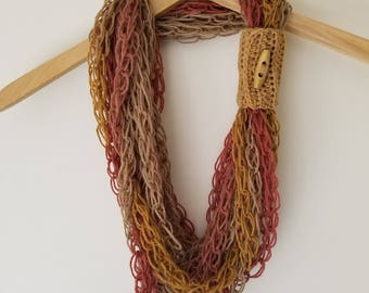 Finger Knit Necklace Scarf