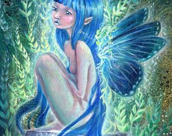 Fairy painting - Blue, faerie