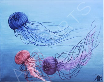 Jellyfish Tribute Art Print
