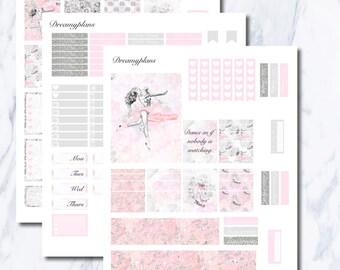 Dance With Me Printable Vertical Erin Condren Planner Stickers Kikki K Personal