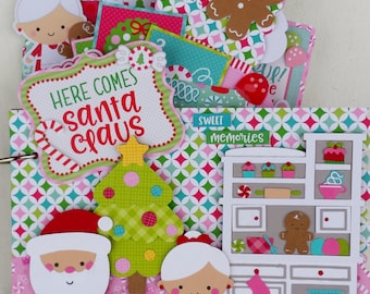 Here Comes Santa Claus Chipboard Album Kit