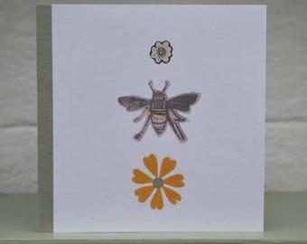 Sundrops flower & Honey bee card