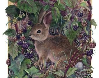 Fine Art Print of Original Watercolor Painting - Bramble Bower