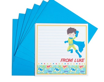 Personalised Superhero Notecards