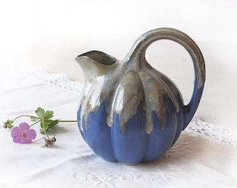 small antique french pitcher water,shabby chic collection, Lavender Blue grey ceramic from Alpho
