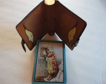 Vintage Playing Cards with Two Scorekeepers
