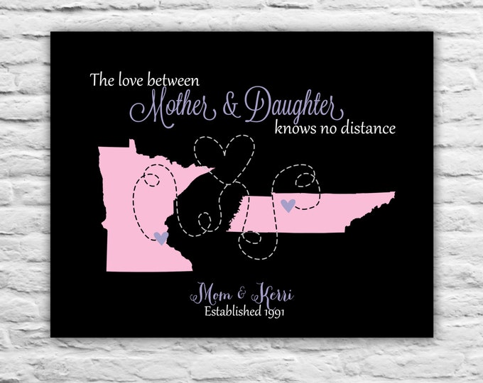 Christmas Gifts For Mom From Daughter Hanukkah Print Family, Mom, Dad, Sister, Best Friend Art Print Map Aunt, Niece, Godmother Ideas