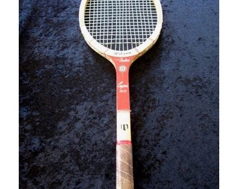 Vintage Tony Trabert CAPRI WILSON Wood Tennis Racquet  Leather Grip Laminated