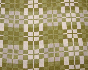 Green Squares Fabric