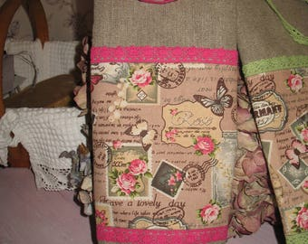 Bag for Remover spirit vintage linen and lace ROSE