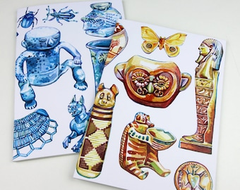 Illustrated Museum Notebooks - Set of Two