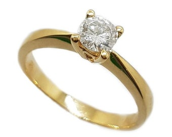 18k yellow gold diamond 0.40ct GH, SI Solitaire Ring