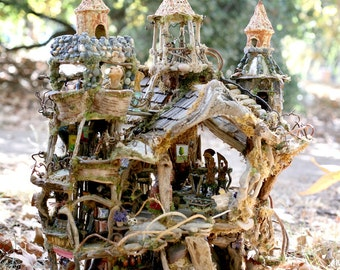 The Fairy Castle, Amazing Forest House, 2 1/2' tall, exhibited at the American Visionary Art Museum, 2012 to 2013