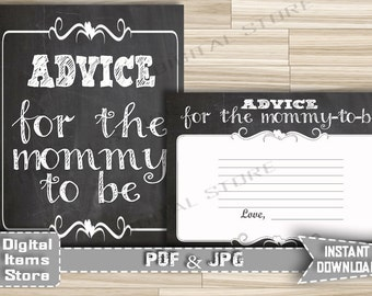 Advice For Parents To Be Chalkboard - Advice For Mommy To Be - Advice Cards Chalkboard - Baby Shower Advice Chalk - INSTANT DOWNLOAD - ch1